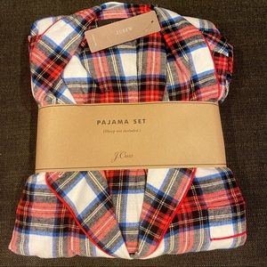 NWT J. Crew Flannel pajama set in white-out plaid